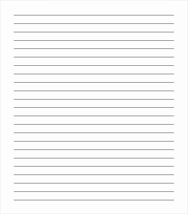 Lined Paper Template Pdf Best Of Sample College Ruled Paper Template 9 Free Documents In