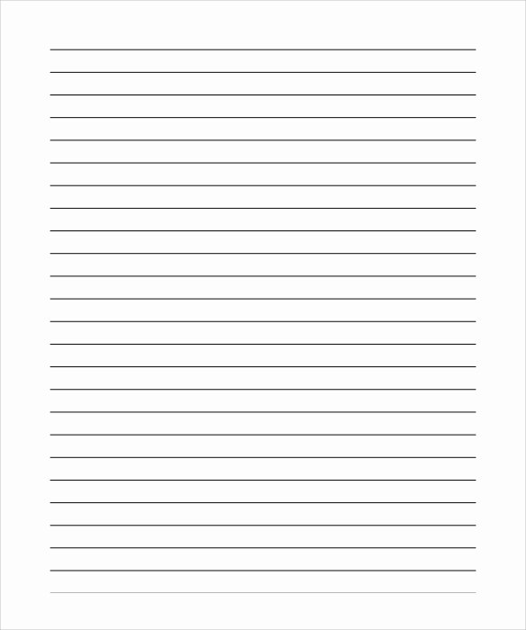 Lined Paper Template Pdf Inspirational 12 Lined Paper Templates – Pdf Doc