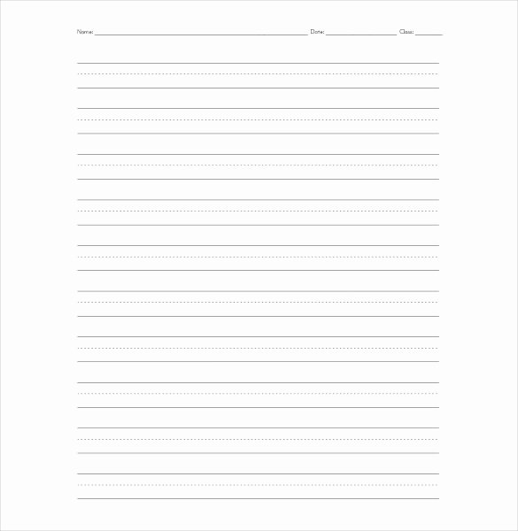 Lined Paper Template Pdf New 10 Lined Paper Templates Doc Pdf Excel