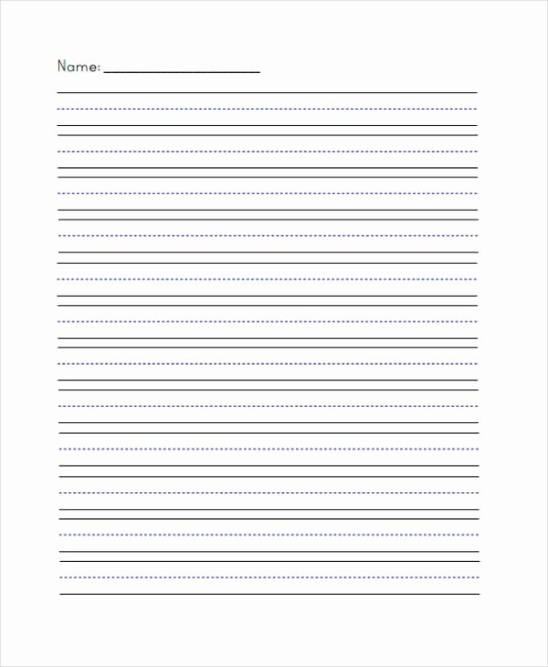 Lined Paper Template Pdf New 29 Printable Lined Paper Templates