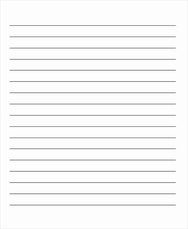 Lined Paper Template Pdf Unique 29 Printable Lined Paper Templates