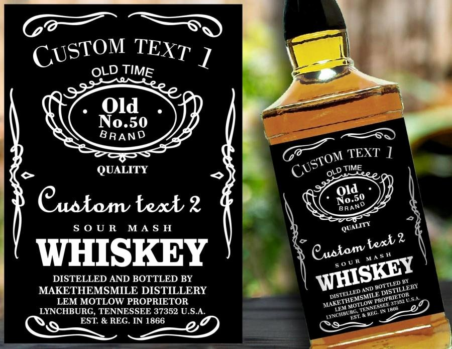 Liquor Bottle Labels Template Lovely Custom Label Personalised Custom Whiskey Label Liquor