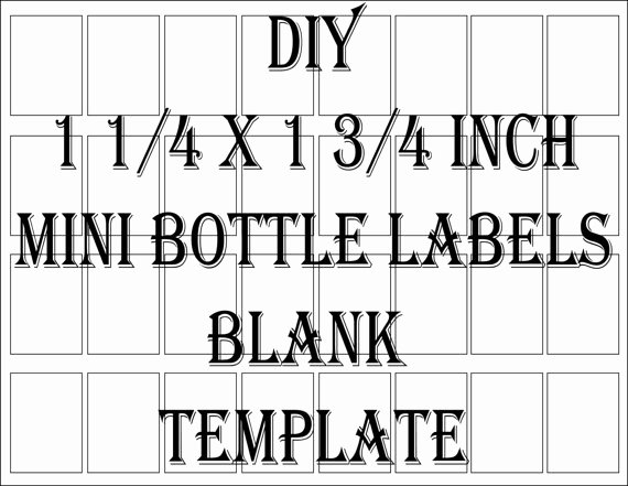 Liquor Bottle Labels Template Luxury Mini Liquor Bottle Label Template Printable 4 Files 32 Diy 1
