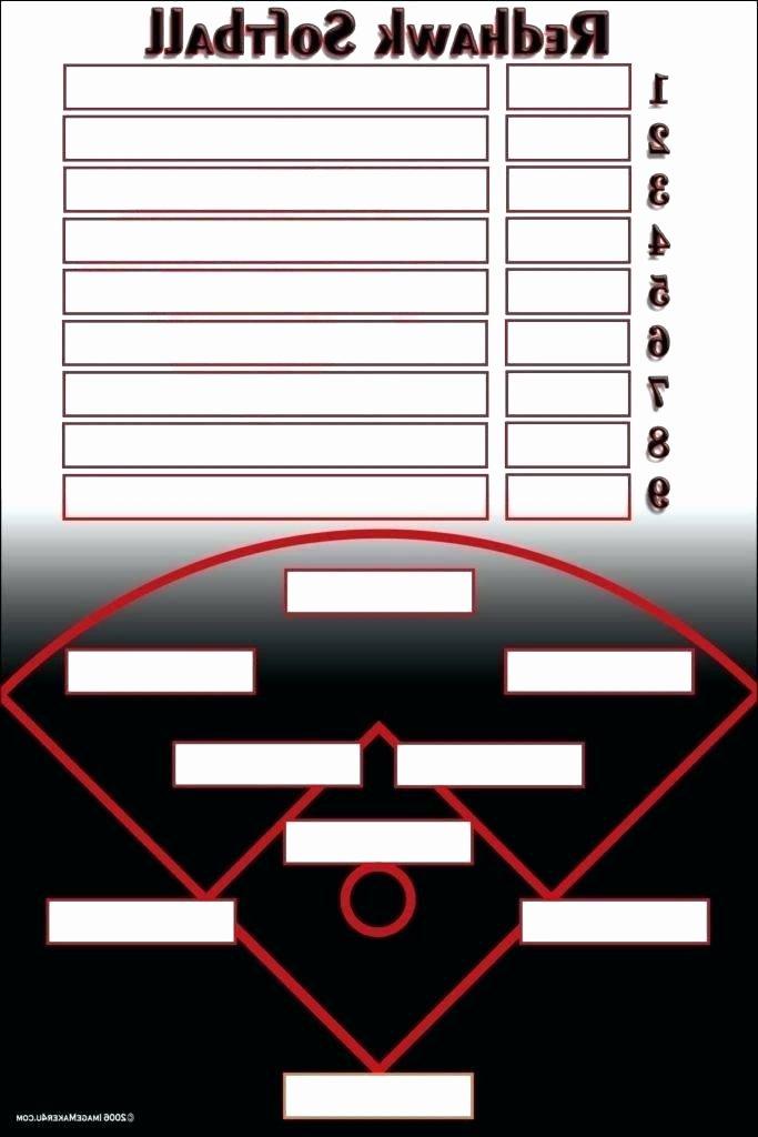 Little League Lineup Template Beautiful Baseball Lineup Spreadsheet Baseball Roster Template