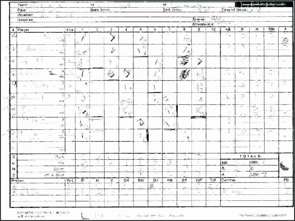 Little League Lineup Template Lovely softball Little League Baseball Scorecard Scores today
