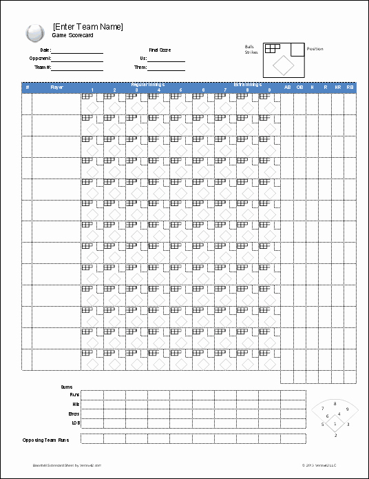 Little League Lineup Template New Free Baseball Roster and Lineup Template
