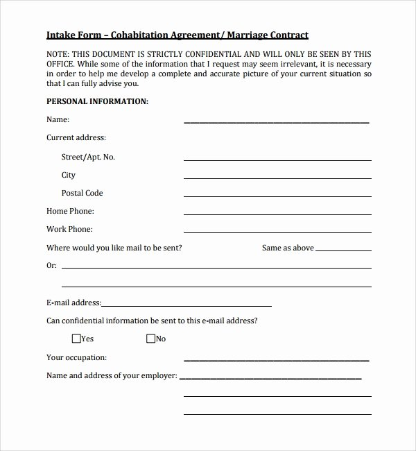 Living Agreement Contract Template Beautiful 6 Sample Cohabitation Agreements – Pdf Doc