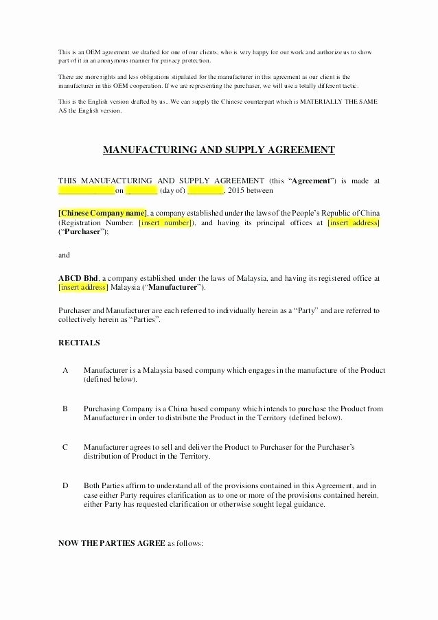 Living Agreement Contract Template Best Of Oem License Agreement Template Living Agreement Contract