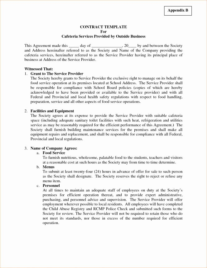 Living Agreement Contract Template New Living Agreement Contract Template