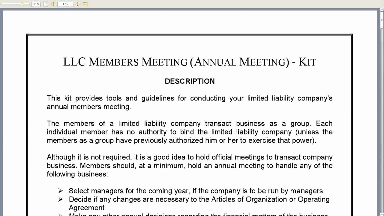 Llc Meeting Minutes Template Elegant Llc Annual Meeting Minutes Template Templates Resume