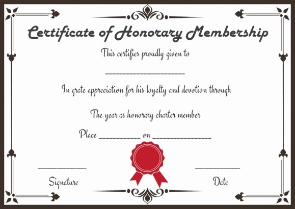 Llc Member Certificate Template Awesome Free Membership Certificates 14 Templates In Word format