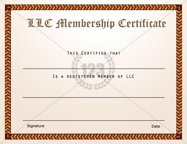 Llc Member Certificate Template Fresh Membership Certificate Templates Best Quality Llc Free