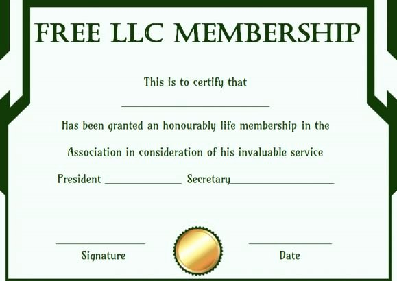 Llc Member Certificate Template Luxury Free Membership Certificates 14 Templates In Word format