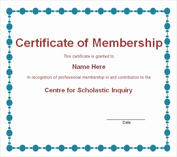 Llc Membership Certificate Template Awesome Membership Certificate Template 15 Free Sample Example