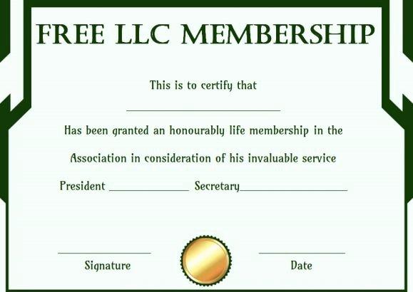 Llc Membership Certificate Template Elegant Free Membership Certificates 14 Templates In Word format