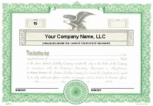Llc Membership Certificate Template Lovely Custom Printed Certificates Limited Liability Pany