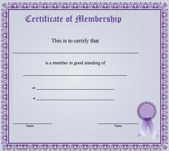 Llc Membership Certificate Template Luxury Membership Certificate Template 15 Free Sample Example