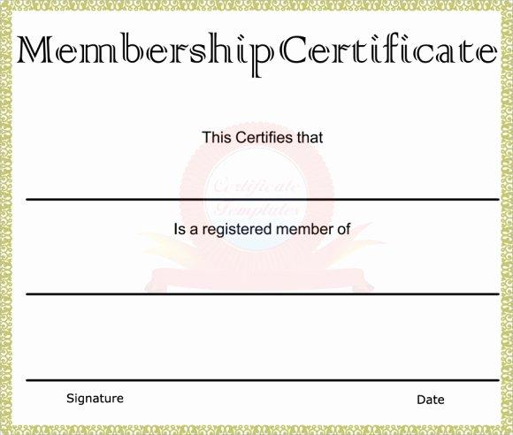 Llc Membership Certificate Template New Membership Certificate Template 15 Free Sample Example