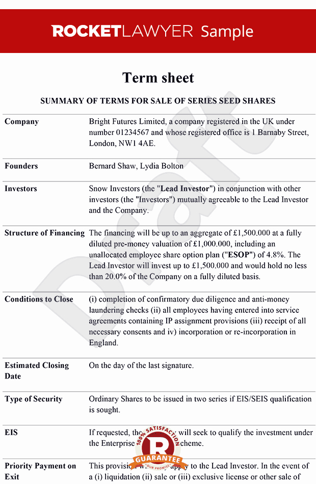 Loan Term Sheet Template Beautiful Term Sheet Term Sheet Template Term Sheets