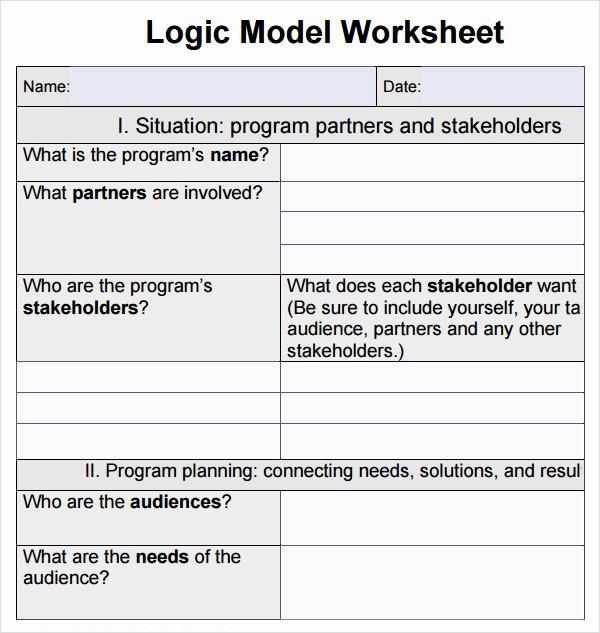 Logic Model Template Powerpoint Elegant 12 Sample Logic Models