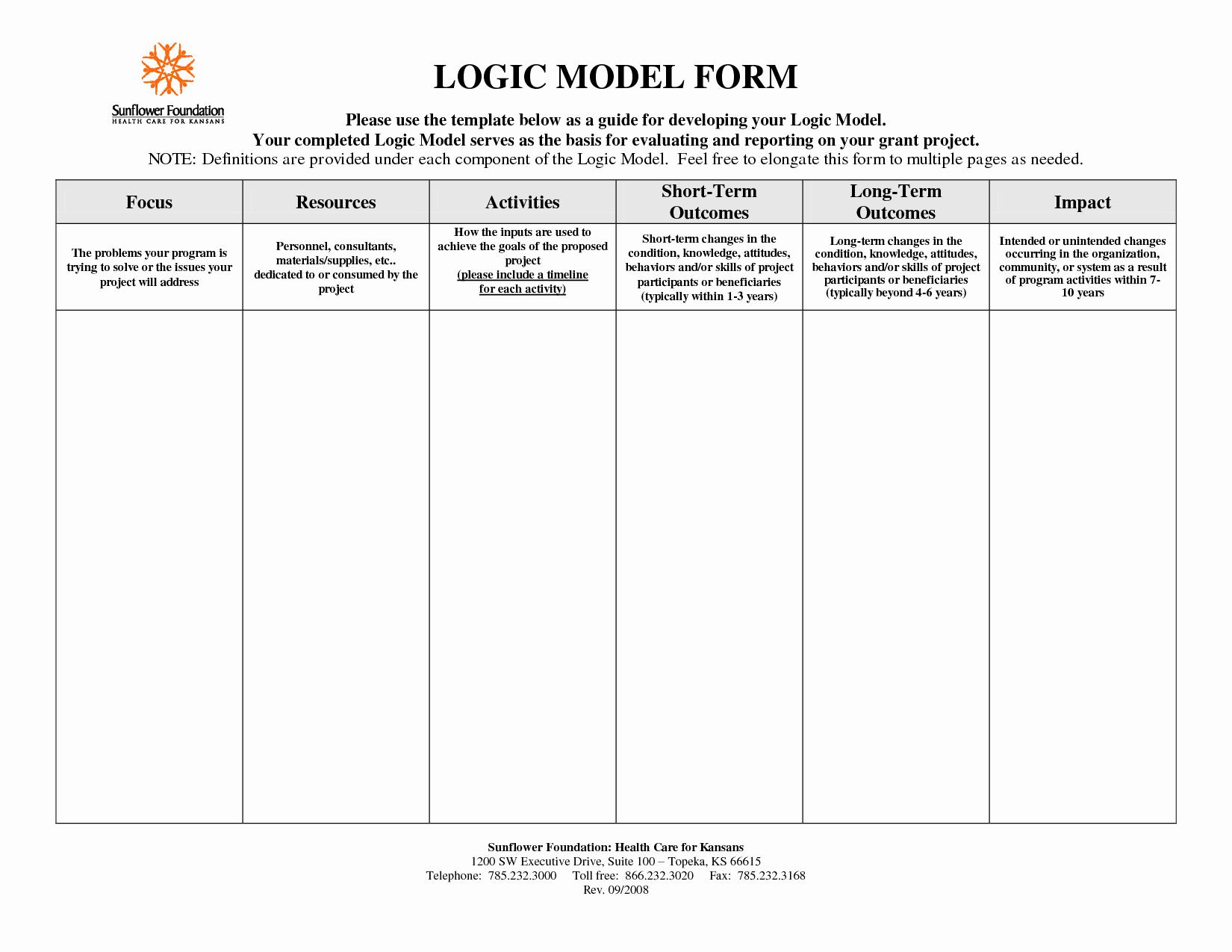 Logic Model Template Powerpoint Fresh Logic Map Templates Reverse Search