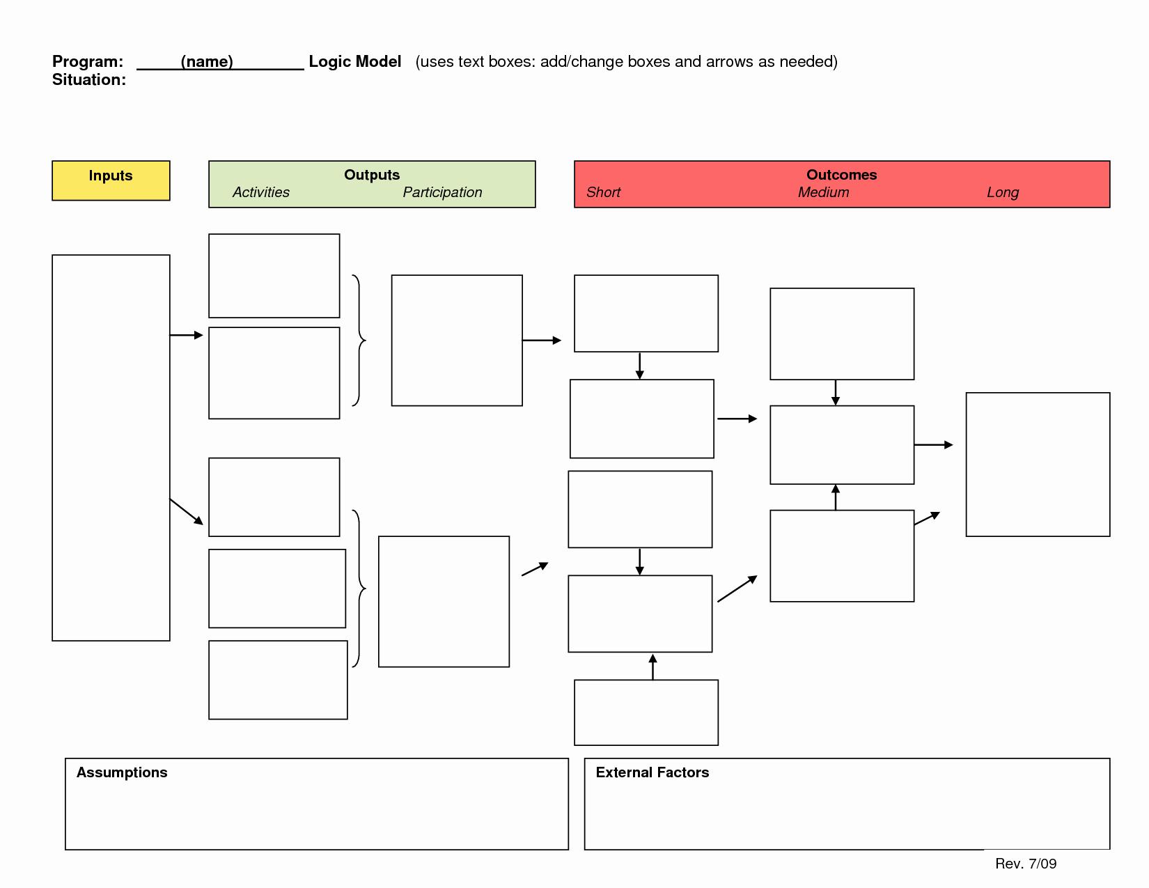 Logic Model Template Powerpoint Fresh Logic Model Template