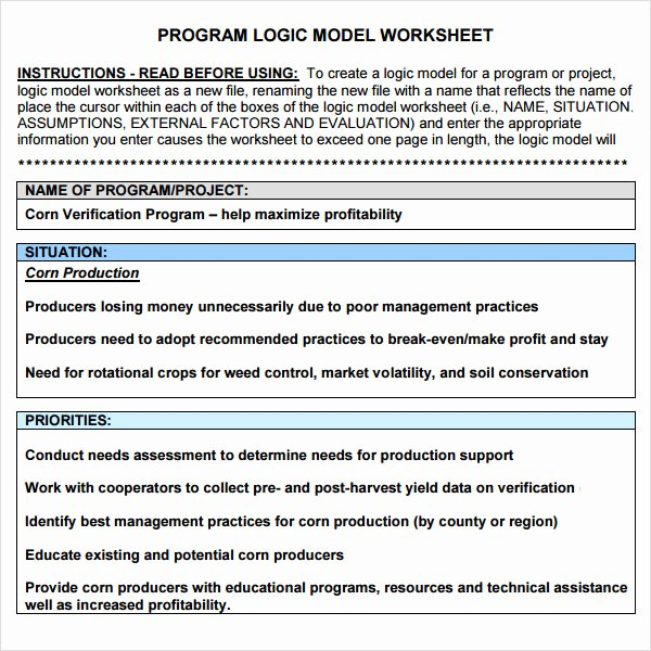 Logic Model Template Word Beautiful 12 Sample Logic Models
