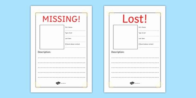 Lost Cat Posters Template Elegant Missing Lost Pet Writing Frames Missing Pet Lost Pet