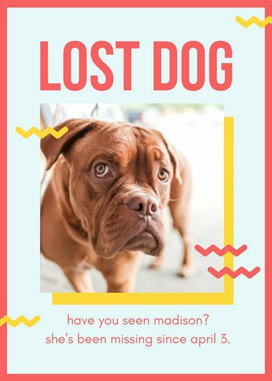 Lost Dog Flyer Template Beautiful Red and Yellow Playful Lost Dog Flyer Templates by Canva