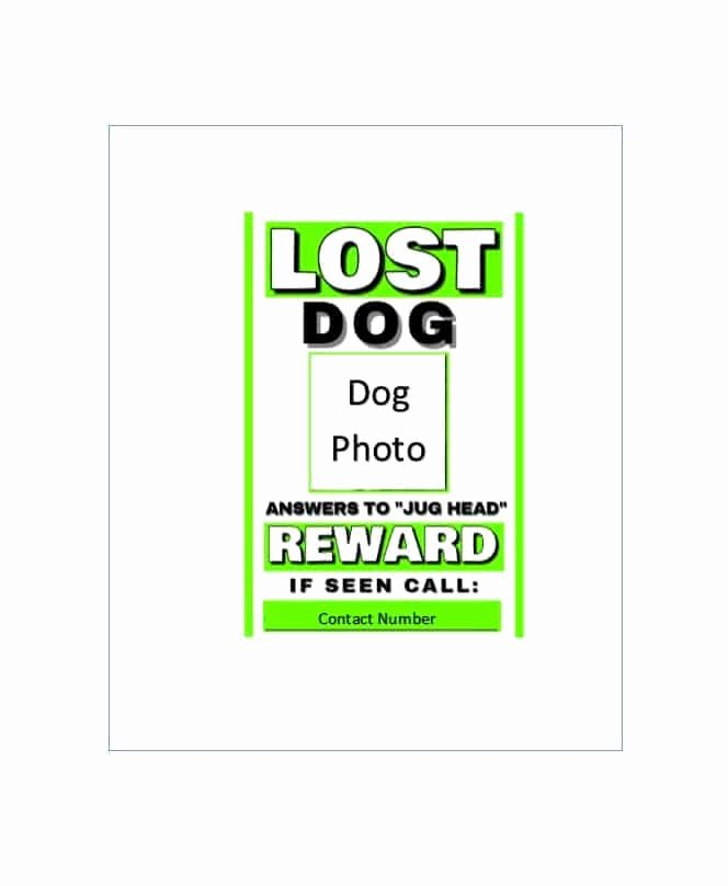 Lost Dog Flyer Template Fresh 40 Lost Pet Flyers [missing Cat Dog Poster] Template