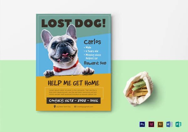 Lost Pet Poster Template Lovely 12 Psd Lost Dog Flyer Templates