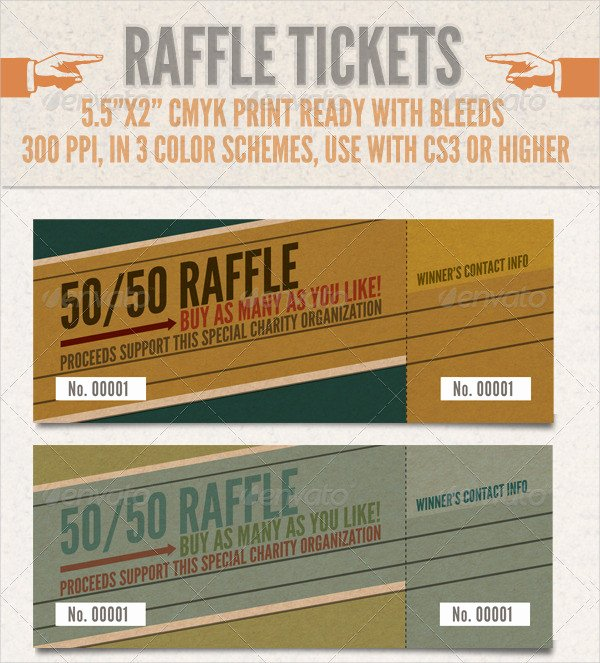 Lottery Ticket Fundraiser Template Awesome Printable Raffle Ticket Template 18 Free Word Excel