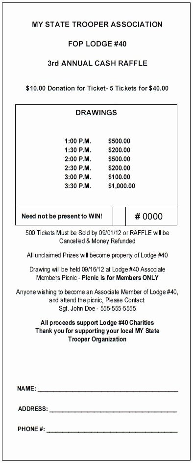 Lottery Ticket Fundraiser Template Best Of 12 Best theraffleticketstore Pinterest