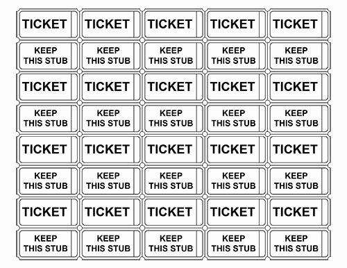 Lottery Ticket Fundraiser Template Elegant Printable Admission Tickets without Numbers