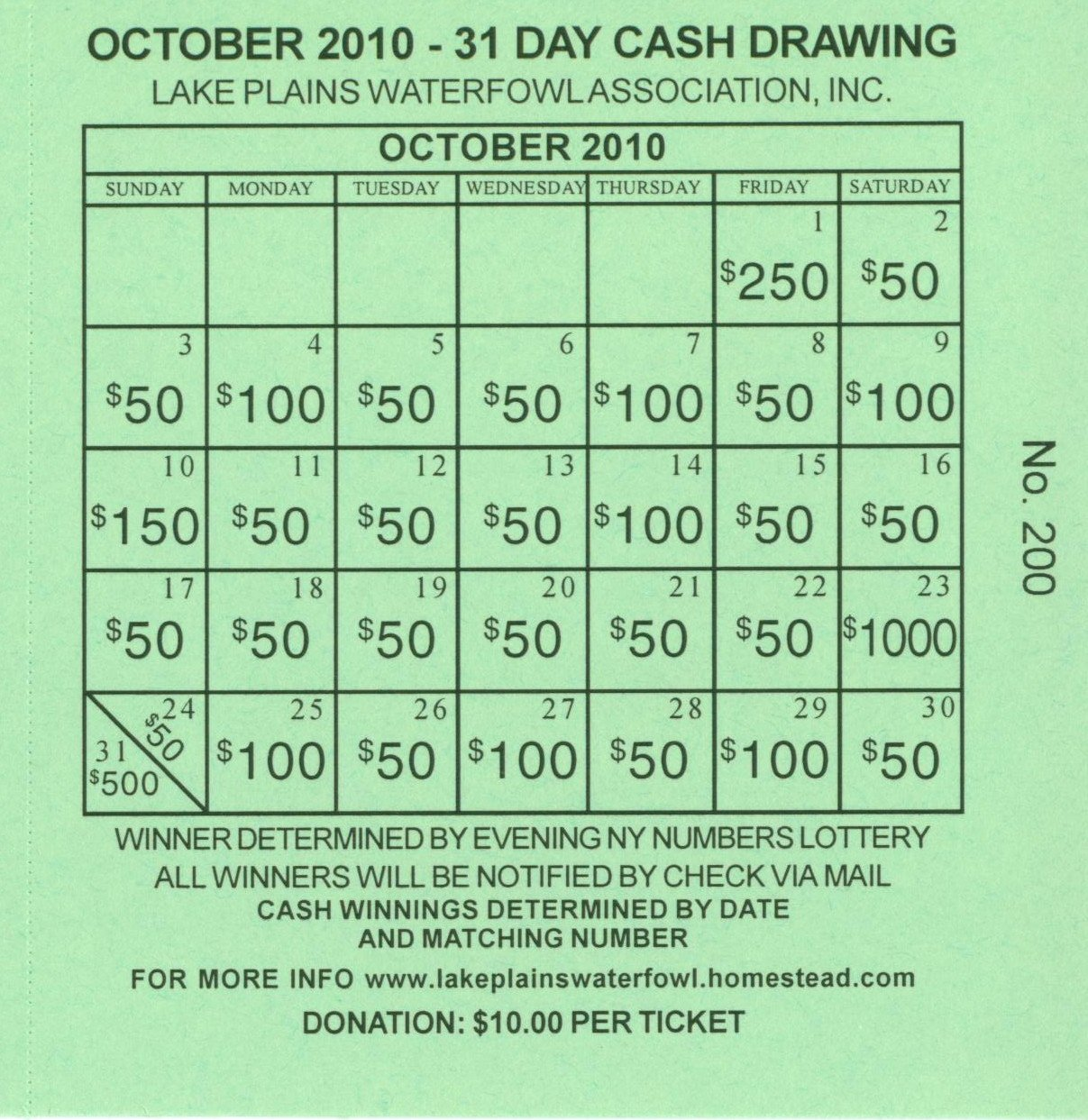 Lottery Ticket Fundraiser Template Lovely Lottery Calendar Fundraiser Template