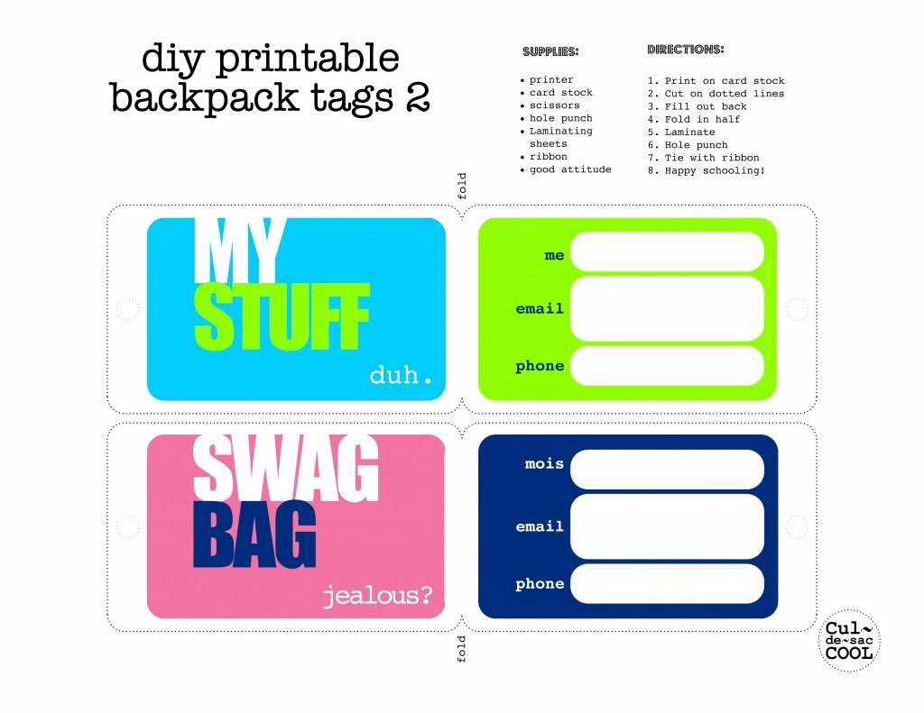 Luggage Name Tag Template Best Of Luggage Tag Template