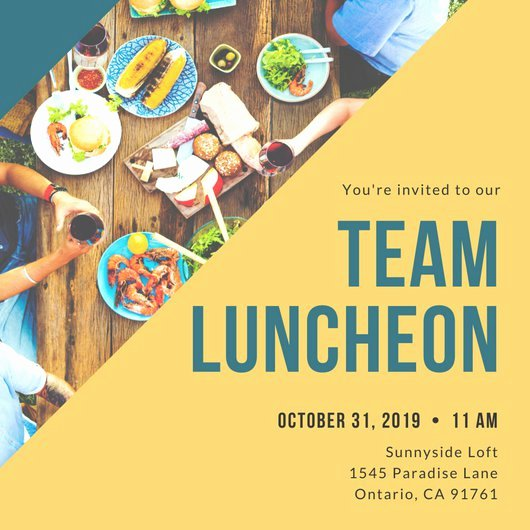 Lunch Invitation Template Free Awesome Customize 114 Luncheon Invitation Templates Online Canva