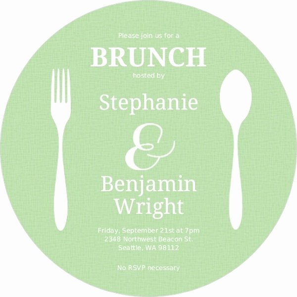 Lunch Invitation Template Free Beautiful Flatwear Circle Brunch Invitation