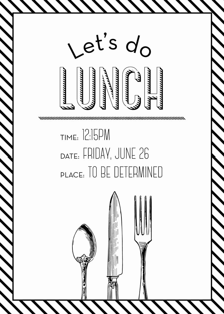 Lunch Invitation Template Free Fresh Simple but Elegant Lunch Invitation