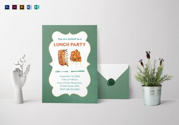Lunch Invitation Template Free Lovely 22 Lunch Invitation Designs & Examples Psd Word Pages