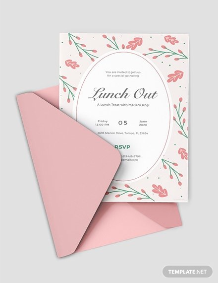 Lunch Invitation Template Free New 10 Free Invitation Lunch Templates