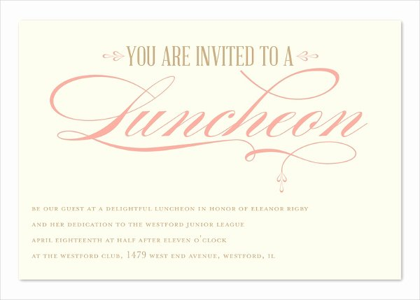 Lunch Invitation Template Free New 43 Invitations Templates In Psd