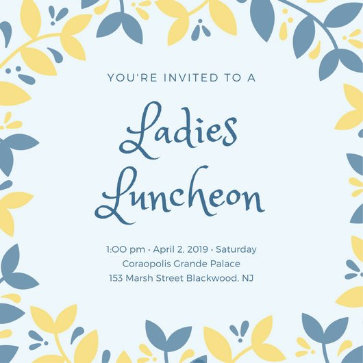 Lunch Invitation Template Free New Customize 114 Luncheon Invitation Templates Online Canva