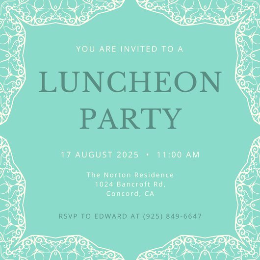 Lunch Invitation Template Free New Luncheon Invitation Templates Canva