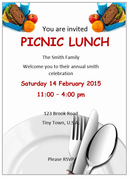 Lunch Invitation Template Free Unique Lunch Invitation Flyer Template Ms Word Free Flyer