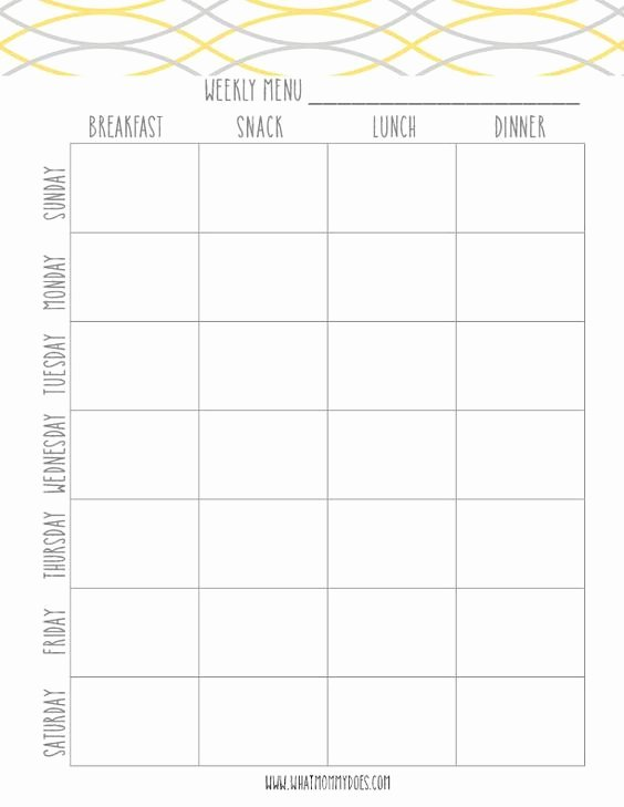 Lunch Menu Template Free Awesome Free Printable Weekly Meal Plan Template Super Cute Menu