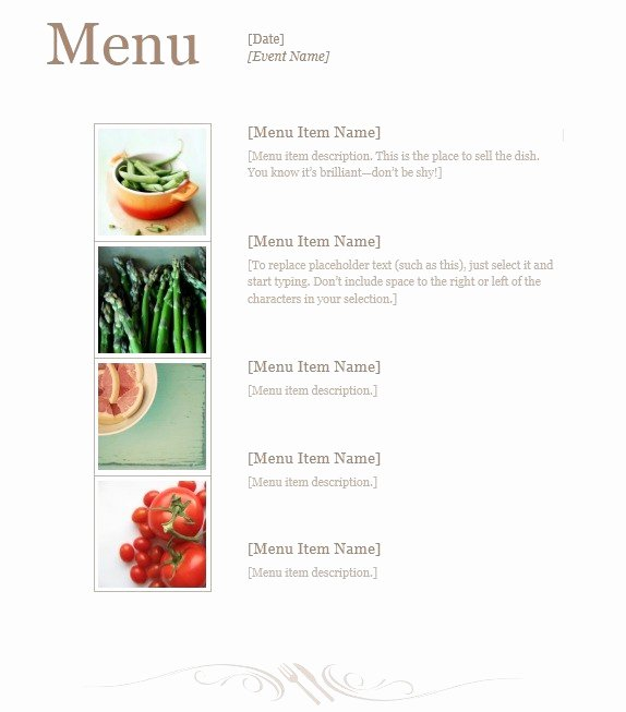 Lunch Menu Template Free Best Of 13 Free Sample Lunch Menu Templates Printable Samples