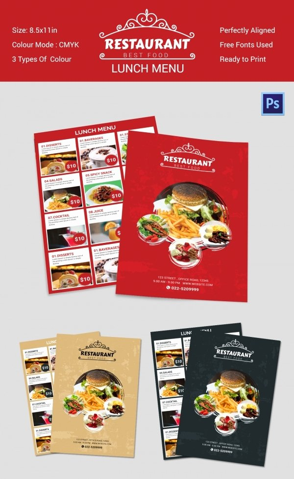 Lunch Menu Template Free Best Of Lunch Menu Template 32 Free Word Pdf Psd Eps