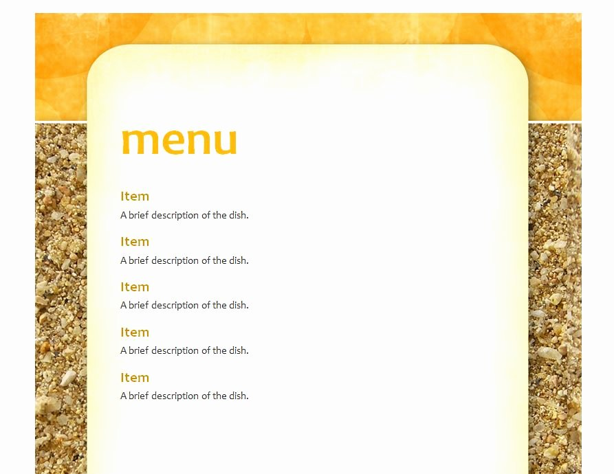 Lunch Menu Template Free Elegant School Lunch Menu Template