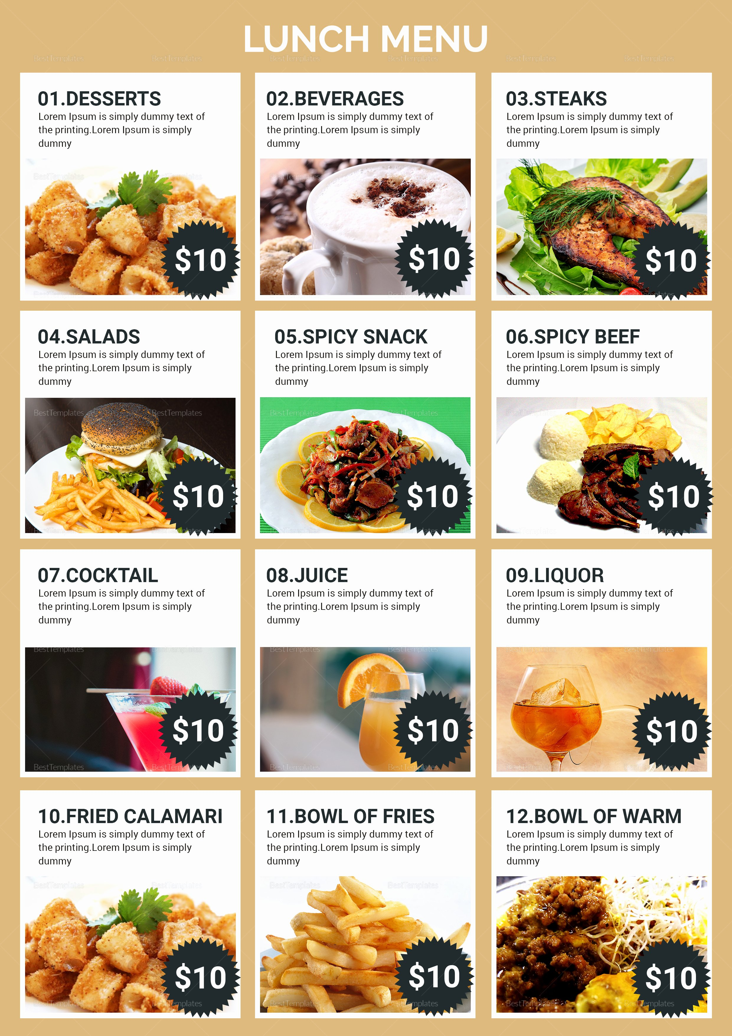 Lunch Menu Template Free Fresh Lunch Menu Design Template In Psd Word Publisher